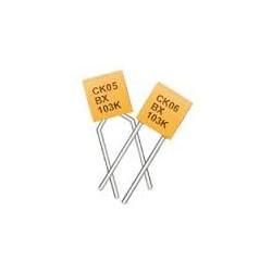 Condensateur type CK05BX céramique multicouche +/-10% 100V 10nF au pas de 5,08mm