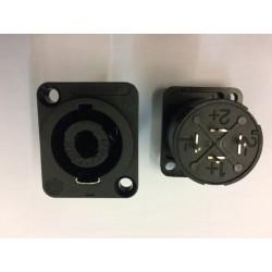 Embase chassis speakon Neutrik 4pts femelle droite pour circuit imprimé NL4-MDV
