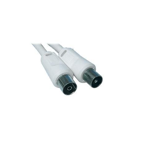 Rallonge antenne TV 10 mètres mâle / femelle + adaptateur mâle / mâle