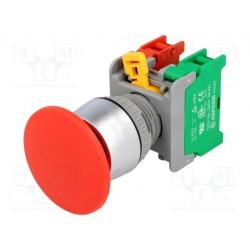 Bouton poussoir 40mm découpe du panneau Ø 21mm contact 1NO / 1NF