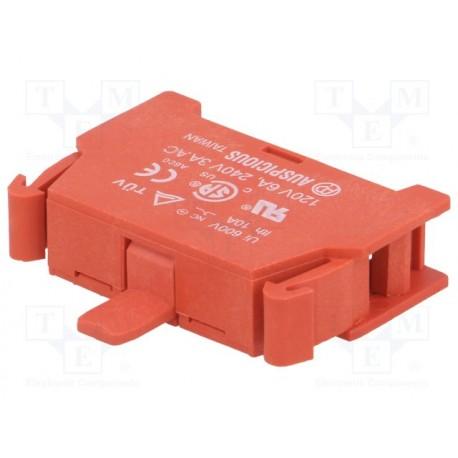 Contact N/C 10Amp. 600V pour poussoir série 33554x et COUPOING2