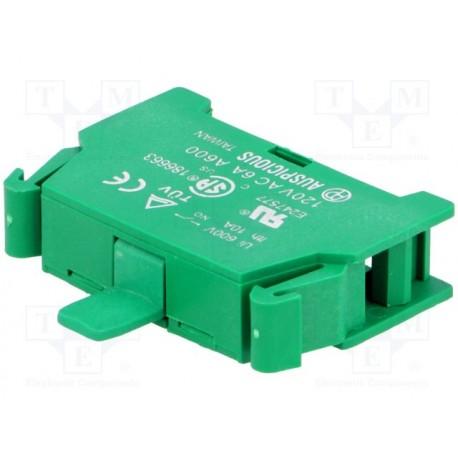 Contact N/O 10Amp. 600V pour poussoir série 33554x et COUPOING2