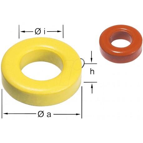 Tore ferrite 0,5 à 50Mhz FT37-6 diamètre 9,53x5,21x3,2mm