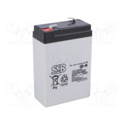 Batterie au plomb étanche 6V 3Ah 104x66x33mm