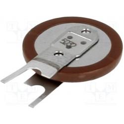 Pile lithium bouton Ø 12,6x2,65mm 3V 7mA pour circuit imprimé verticale 2 points