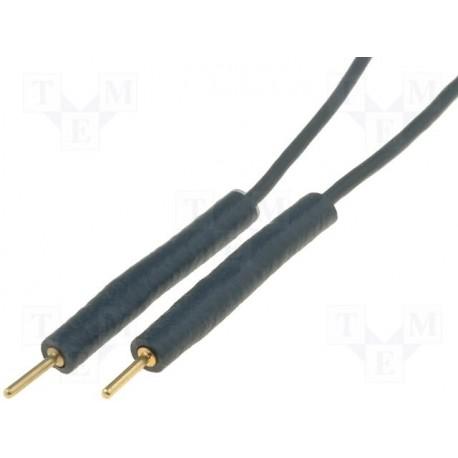 Cordon extra-souple silicone mâle / mâle avec fiche mâle 0,8mm 10cm noir