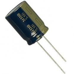 Condensateur chimique radial 105° 6800µF 16V Ø 16 x 36mm au pas de 7,5mm