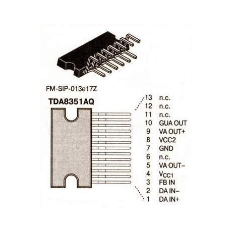 Circuit intégré multiwatt13 TDA1510