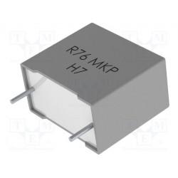 Condensateur Kemet R76 5% 220nF 1000Vdc / 600Vac au pas de 27mm
