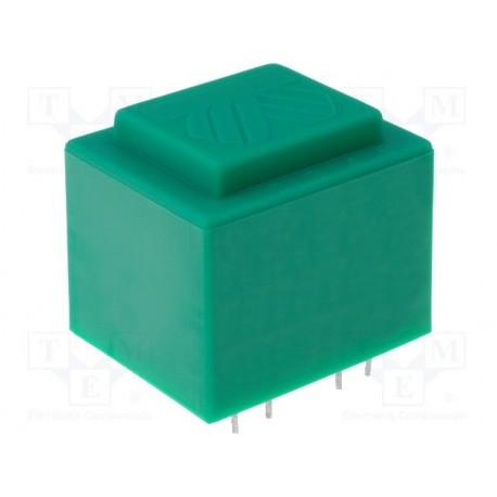 Transformateur moulé 400Vac / 24Vac 6VA 45x38x32mm