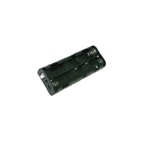 Coupleur pour 6 piles R14 type C en long avec cosses à souder