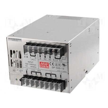 Alimentation Mean-Well série SP 500W 88-264Vac - 12Vdc - 40 Amp.