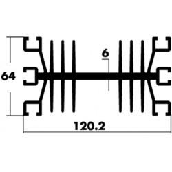 Dissipateur longueur 1 mètre type S39 1000x120x64mm