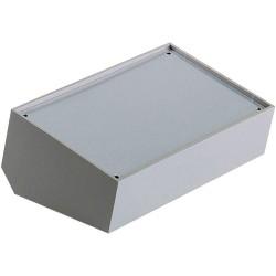 Boîtier pupitre TEKO 362 plastique gris face aluminium argent 160 x 95 x 45 x 60 x 39 mm