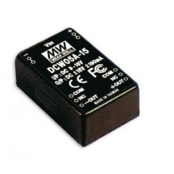 Convertisseur DC/DC Mean-Well 5,5W 9/18V - +/-12V 230mA