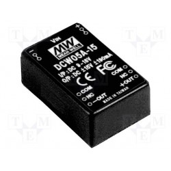 Convertisseur DC/DC Mean-Well 5,7W 9/18V - +/-15V 190mA