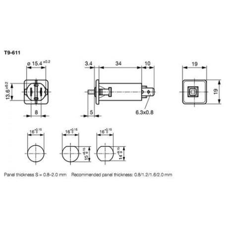 Disjoncteur 240Vac - 48Vdc 16Amp.