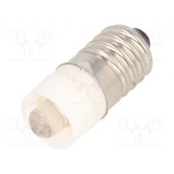 Ampoule E10 led 24Vac/dc blanche 10x23mm