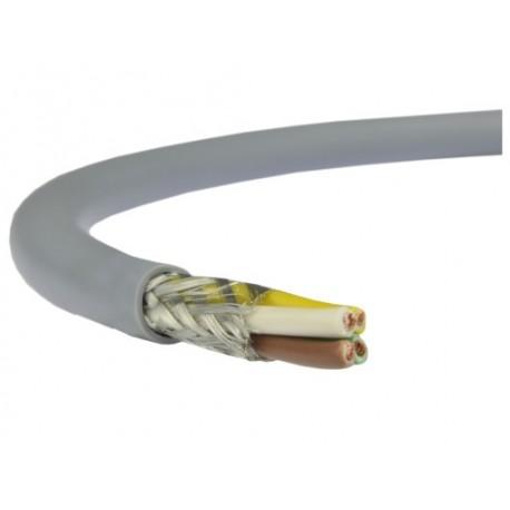 Câble blindé 4 conducteurs 0,34mm² + masse Ø extérieur 5,6mm