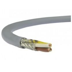 Câble blindé 4 conducteurs 0,5mm² + masse Ø extérieur 6,3mm