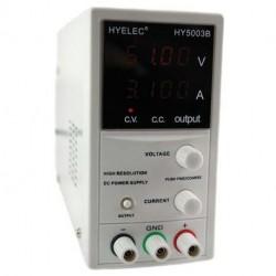 Alimentation de laboratoire digitale 0 à 50V / 0 à 3Amp. réglable par pas de 1 volt