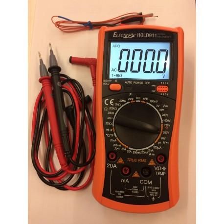 Multimètre Electris digital True RMS 2000pts autopower off
