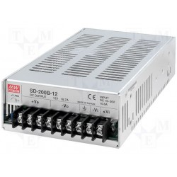 Convertisseur Mean-Well DC/DC 19/36Vdc-12Vdc 16,7A 200W