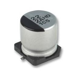 Condensateur chimique CMS 105° 22µF 25V Ø 6,3x5,3mm