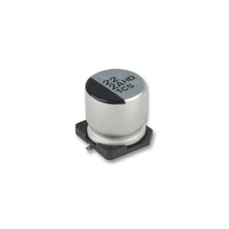 Condensateur chimique CMS 105° 22µF 35V Ø 6,3x5,3mm