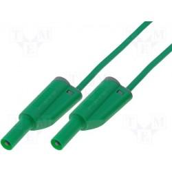 Cordon de sécurité à reprise 4mm vert longueur 25cm