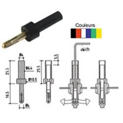 Adaptateur de sécurité simple puit Ø 4mm rouge