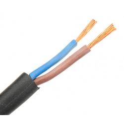 Câble gainé H05 RN-F caoutchouc souple 2x0,75mm² noir