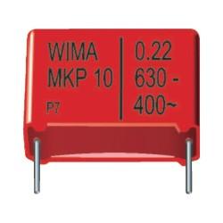 Condensateur métal MKP 1600V 0,1µF au pas de 27mm