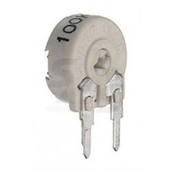 Ajustable vertical type cermet Piher PTC10 470Kohms