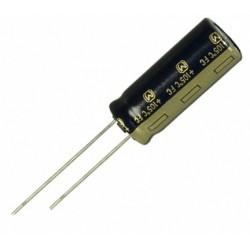 Condensateur chimique radial low ESR 105° 1800µF 25V Ø 16x20mm au pas de 7,5mm
