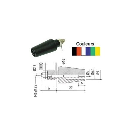 Douille de sécurité en saillie diamètre 4mm jaune / verte