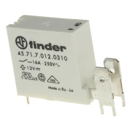 Relais type Finder 4571 12Vdc 1 contact travail 16Amp.