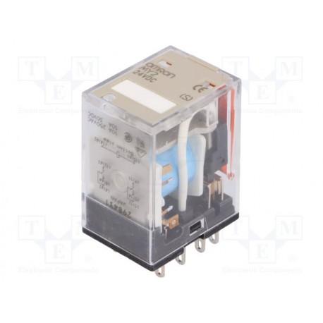Relais Omron type MY2 DPDT 24Vdc 10Amp 250V