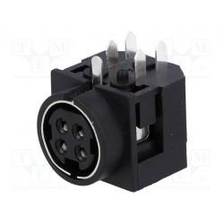 Embase alimentation 4pts femelle DIN 422 coudée pour circuit imprimé