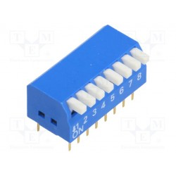 Inter dip-switch 8 contacts dil16 type piano