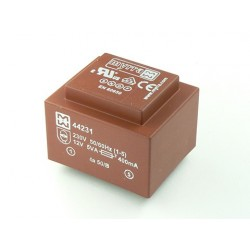 Transformateur moulé EI38 230Vac / 6Vac 5VA