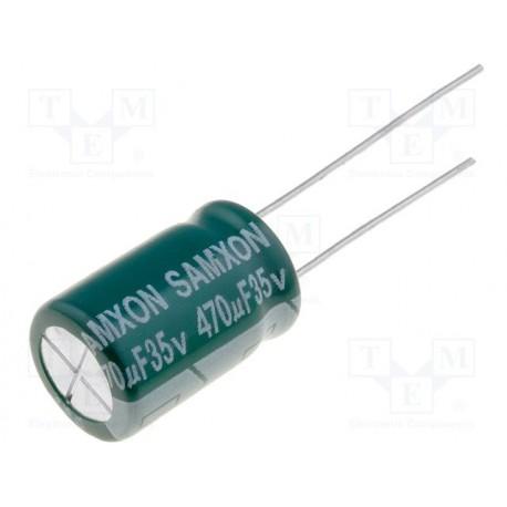 Condensateur low ESR radial 105° 470µF 35V au pas de 5mm