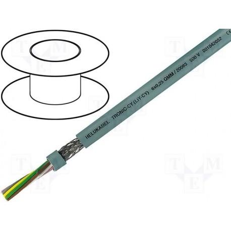 Câble blindé 6 conducteurs 0,14mm² + masse Ø extérieur 4,8mm