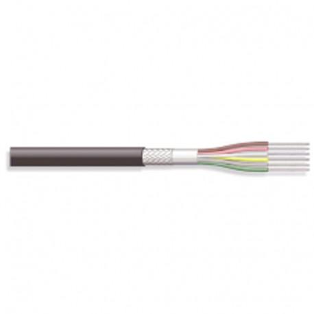 Câble blindé 6 conducteurs 0,25mm² + masse Ø extérieur 5,8mm