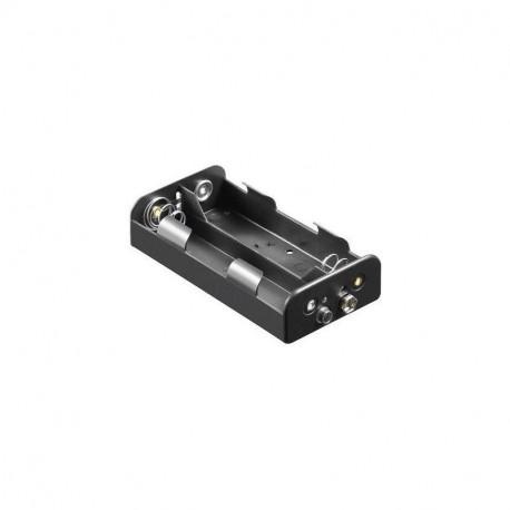 Coupleur pour 4 piles R14 type C en long à pression 6F22
