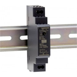 Alimentation Mean-Well pour rail-din 12W 85/264Vac - 24Vdc - 0,63Amp.