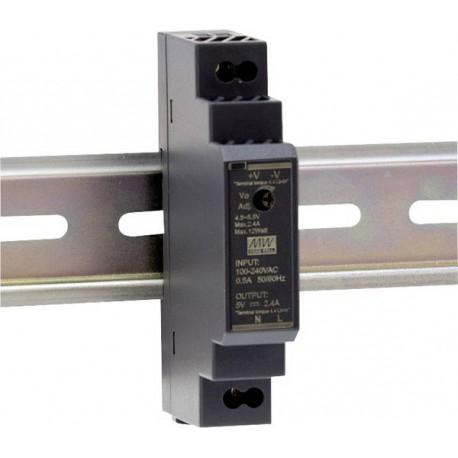 Alimentation Mean-Well pour rail-din 12W 85/264Vac - 24Vdc - 0,63Amp.