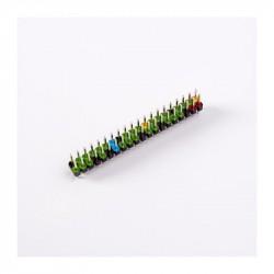 Adaptateur GPIO 2x20 broches mâle avec code couleur