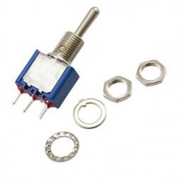 Inverseur miniature unipolaire on / off / on pour circuit imprimé