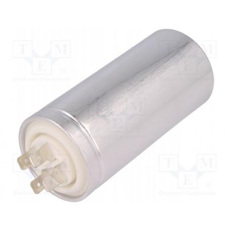 Condensateur de démarrage métallique à cosses 35µF 450V Ø 45x98mm